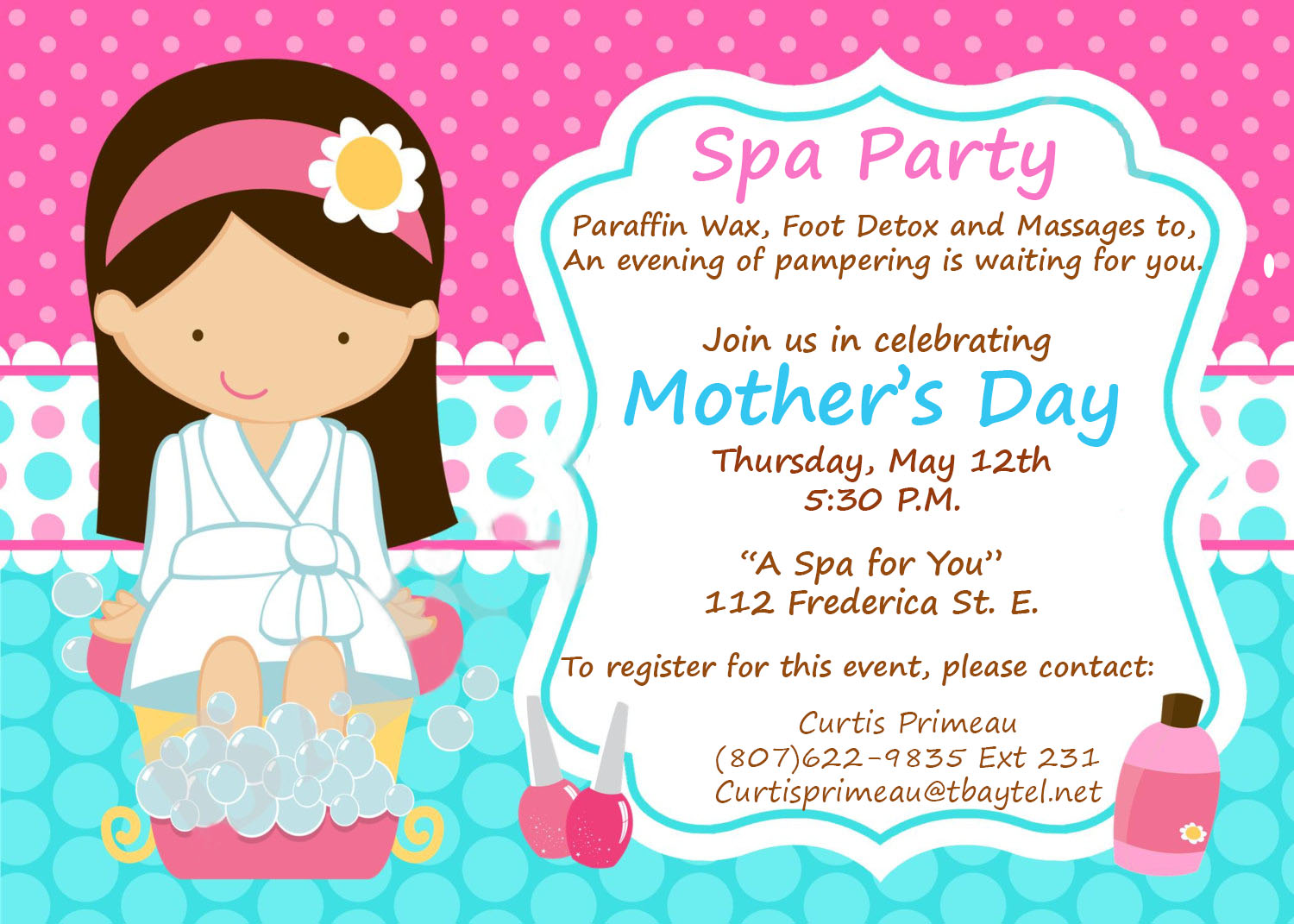 Mothers Day Spa Party 2016 - Lac des Mille Lacs First Nation