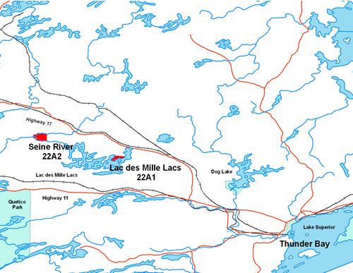 Our location lac des mille lacs first nation for Garage des milles lacs